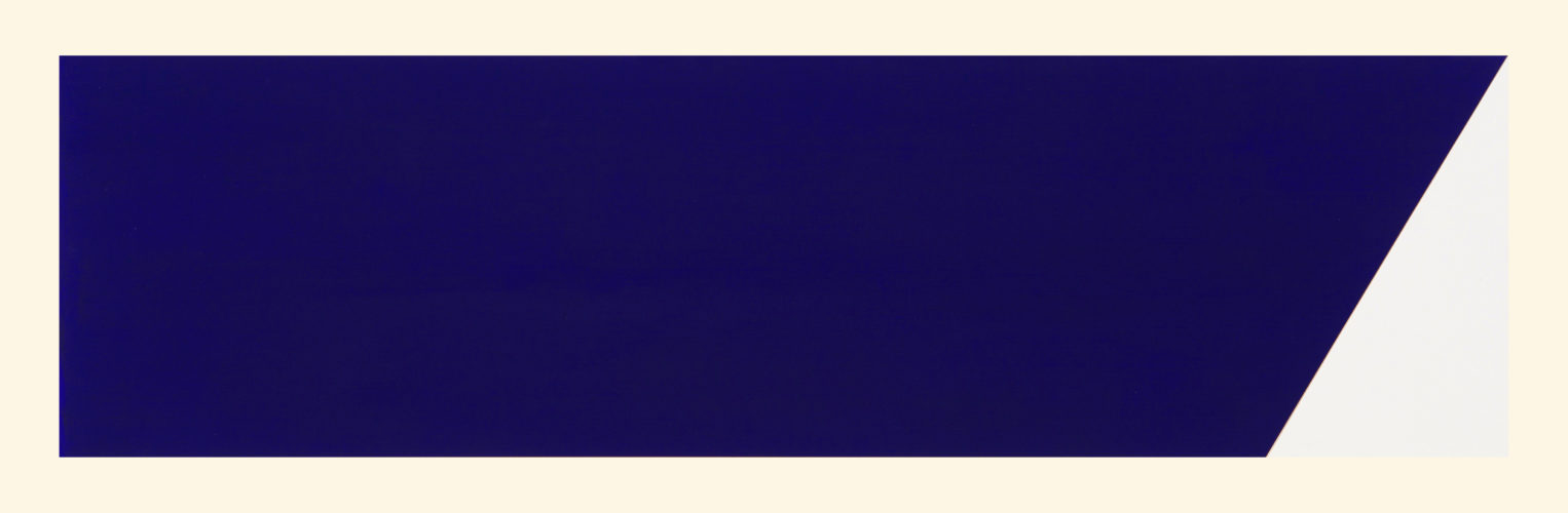 Rivers And Mountains/4, Slant Blue by Rupert Deese at