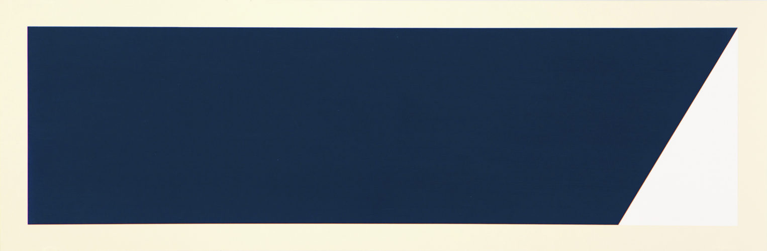 Rivers And Mountains/5, Slant Blue-green by Rupert Deese at