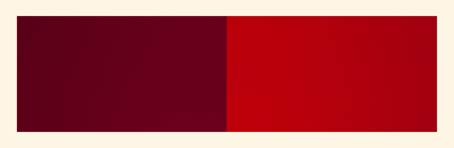 Rivers And Mountains/6,  Red/vermillion by Rupert Deese at