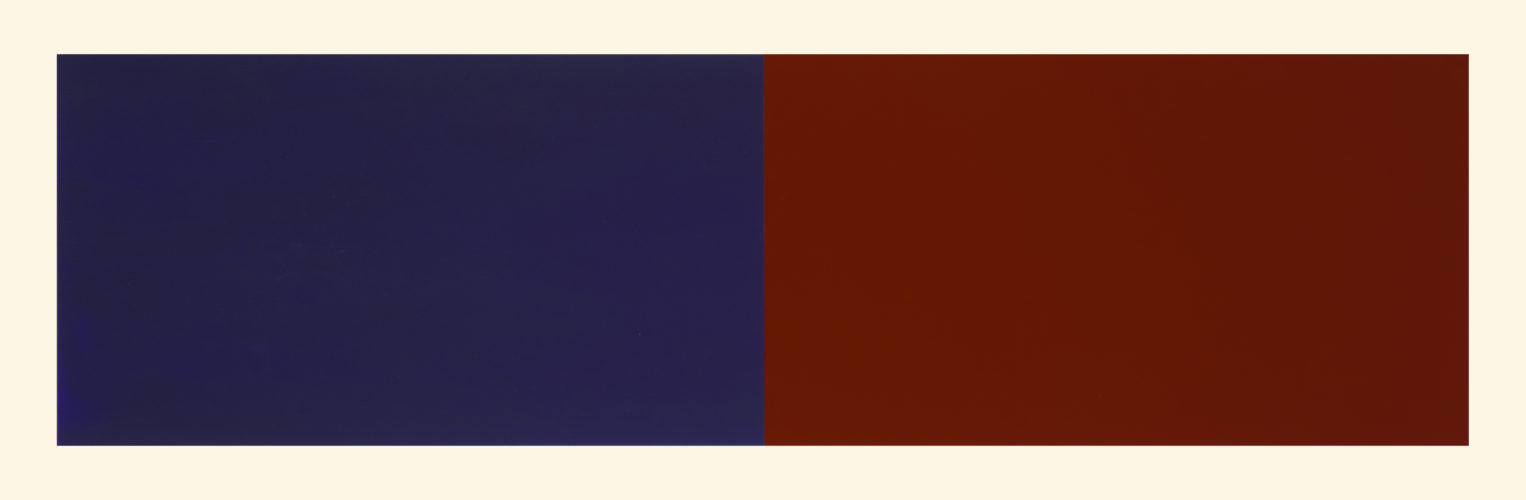 Rivers And Mountains/7,  Blue/red-violet by Rupert Deese at