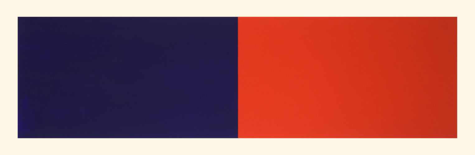 Rivers And Mountains/8,  Blue/red by Rupert Deese at