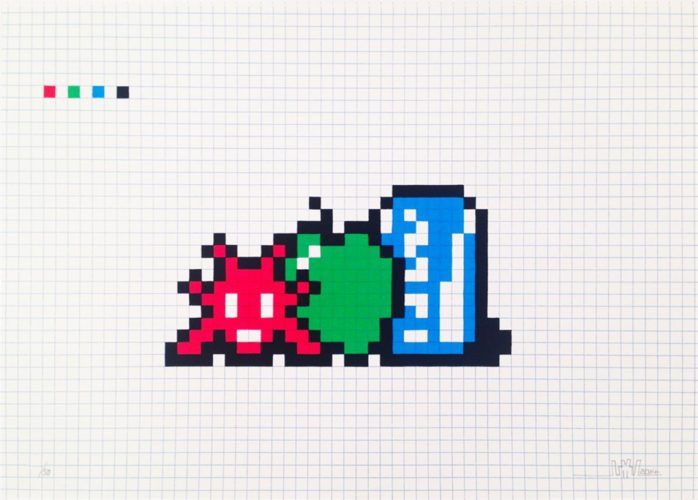 Still Life With Pocari Can by Invader