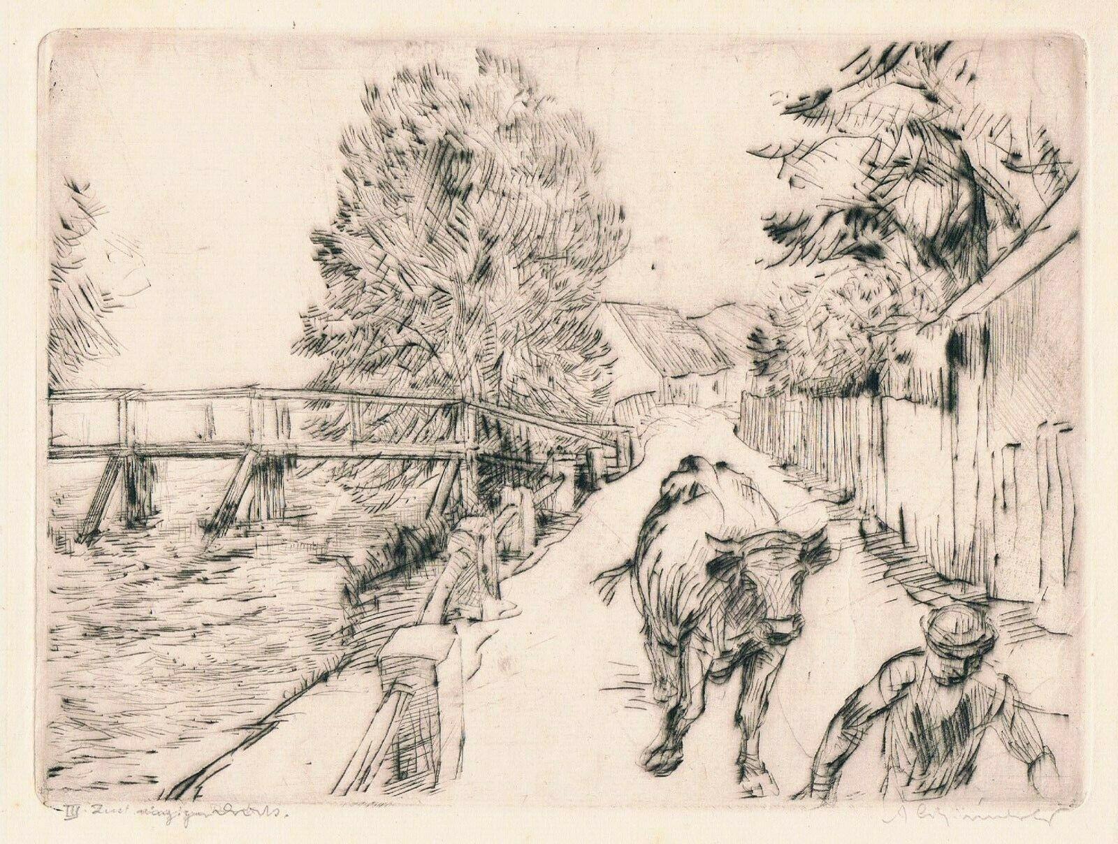 Strasse In Ottershausen by Adolf Schinnerer