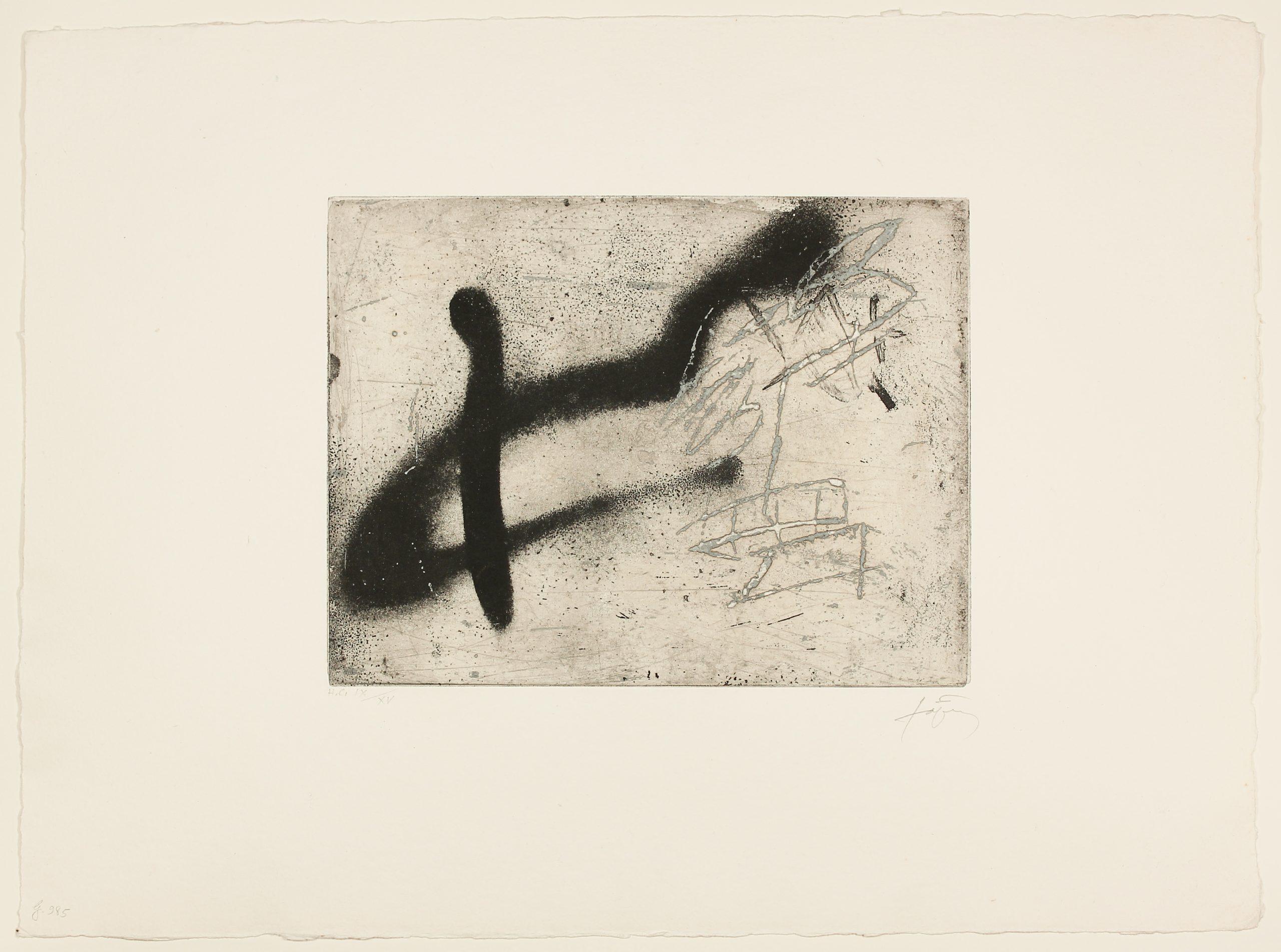 Composition Au A Renversé by Antoni Tapies