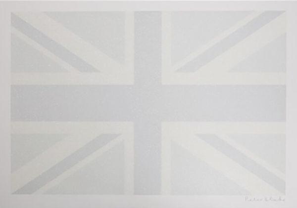 Union Flag – Diamond Dust (greyscale) by Peter Blake