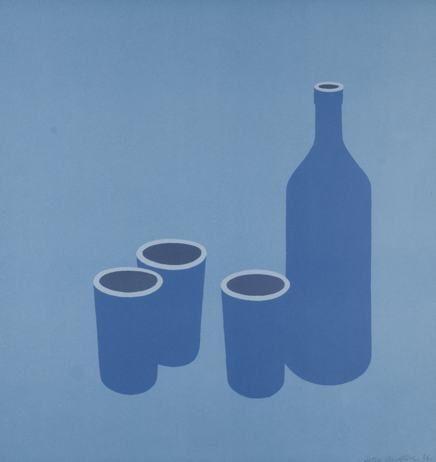 Bottle And Cups by Patrick Caulfield
