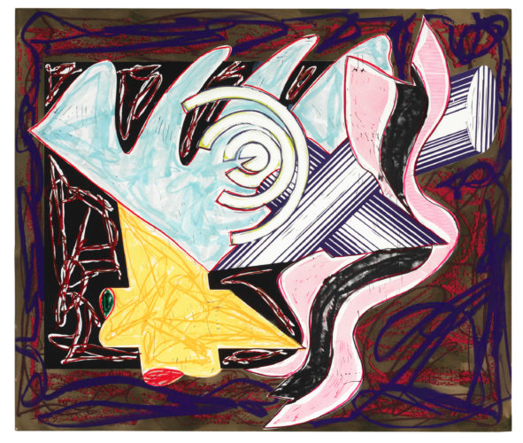 A Hungry Cat Ate Up The Goat by Frank Stella at