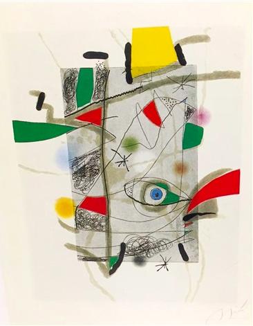 Llibre Dels Sis Sentis, Iii by Joan Miro
