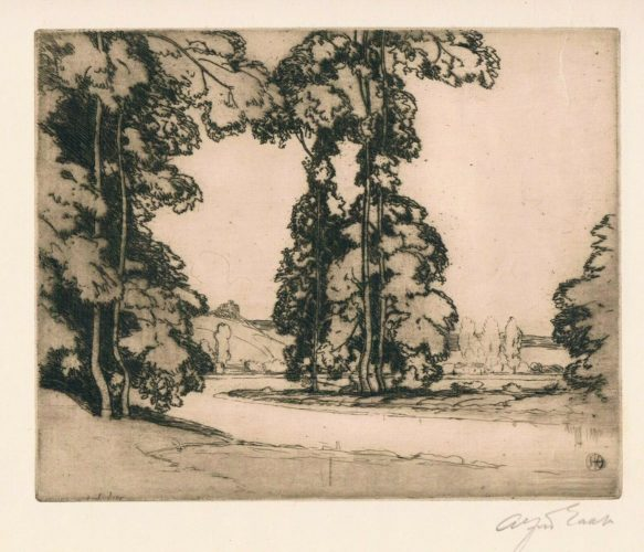 On The Banks Of The Seine by Alfred East