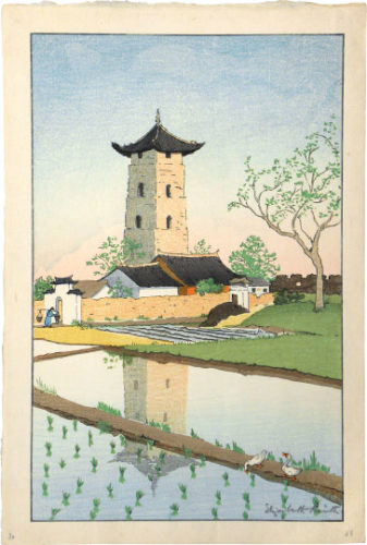 Bell Tower, Soochow, China by Elizabeth Keith