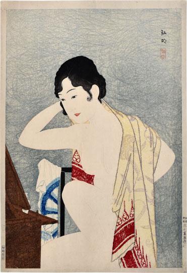 Make-up Before The Mirror (moga) by Takahashi Hiroaki (Shotei)