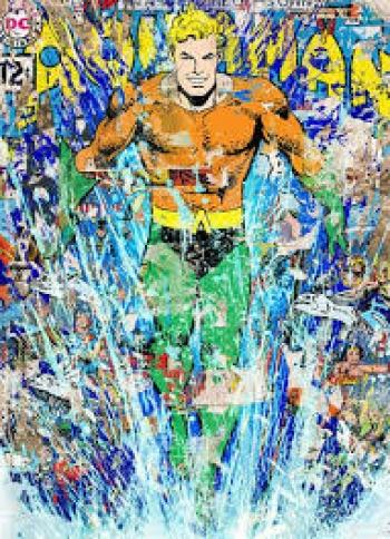 Aquaman by Mr. Brainwash