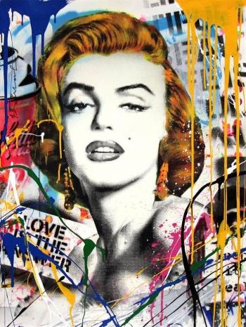 Marilyn by Mr. Brainwash at Mr. Brainwash