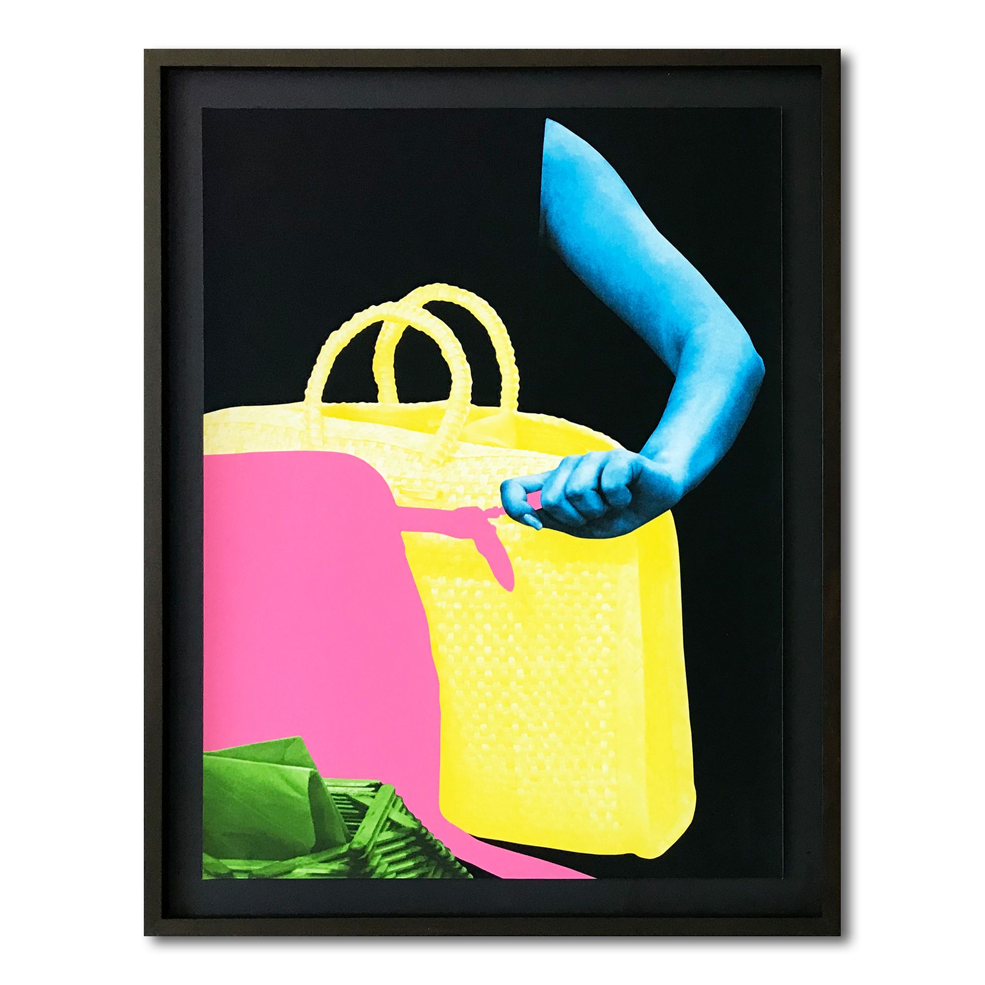 Arm, Two Bags And Envelope Holder by John Baldessari