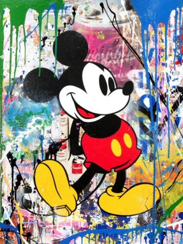 Mickey by Mr. Brainwash at Mr. Brainwash
