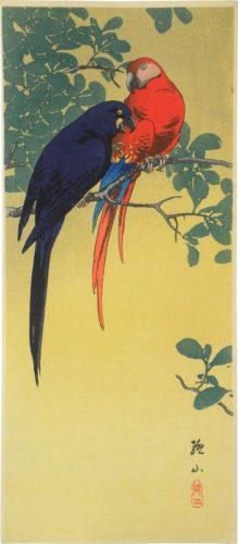 Two Macaws by Ito Sozan at