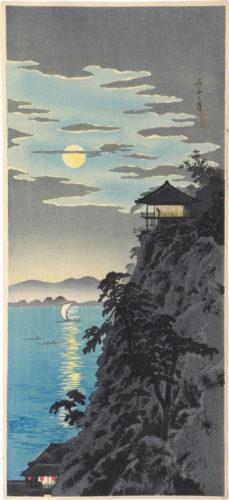 Moon At Ishiyama by Takahashi Hiroaki (Shotei)