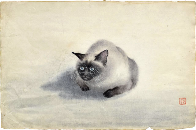 Siamese Cat by Kakunen Tsuruoka at