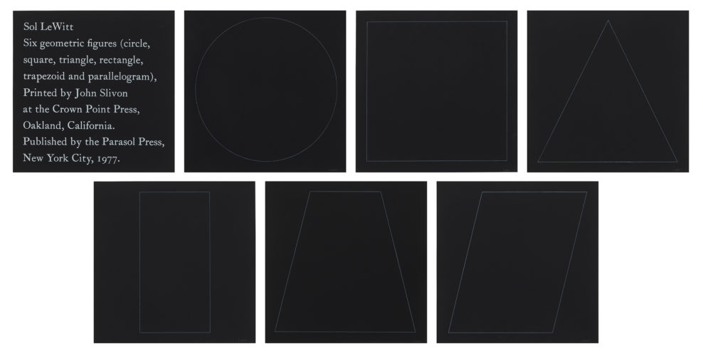 Six Geometric Figures by Sol LeWitt