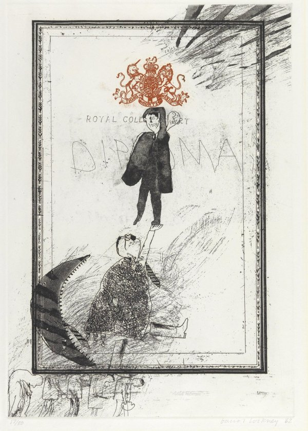 Royal College Of Art – Diploma by David Hockney