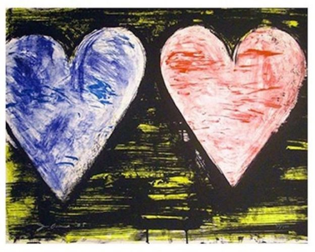 Two Hearts At Sunset by Jim Dine