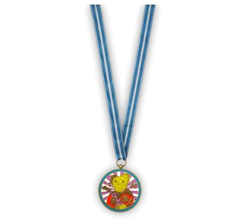 Teddy Bear Necklace Medal by Grayson Perry RA at