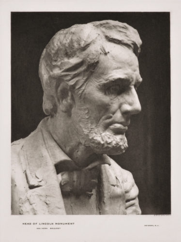 Head Of Lincoln Monument by Gutzon Borglum
