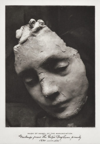 Mask Of Angel Of The Annunciation by Gutzon Borglum