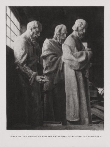 Three Apostles, Cathedral St. John The Divine by Gutzon Borglum