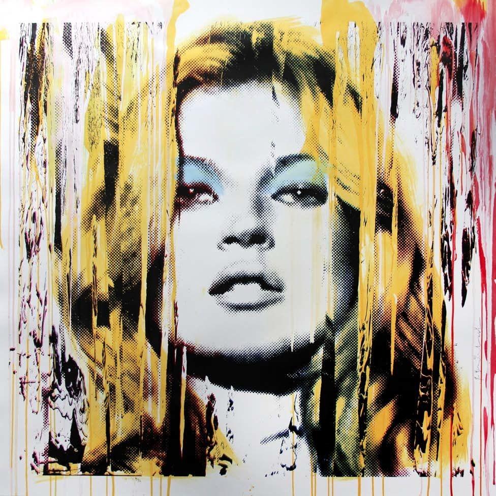 Kate Moss Pink by Mr. Brainwash