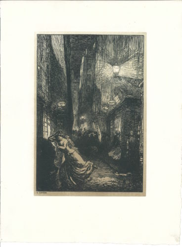 La Rafle (the Raid) by Auguste Louis Lepere at