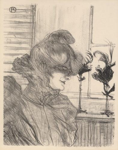 Le Margoin (mademoiselle Louise Blouet) by Henri de Toulouse-Lautrec at