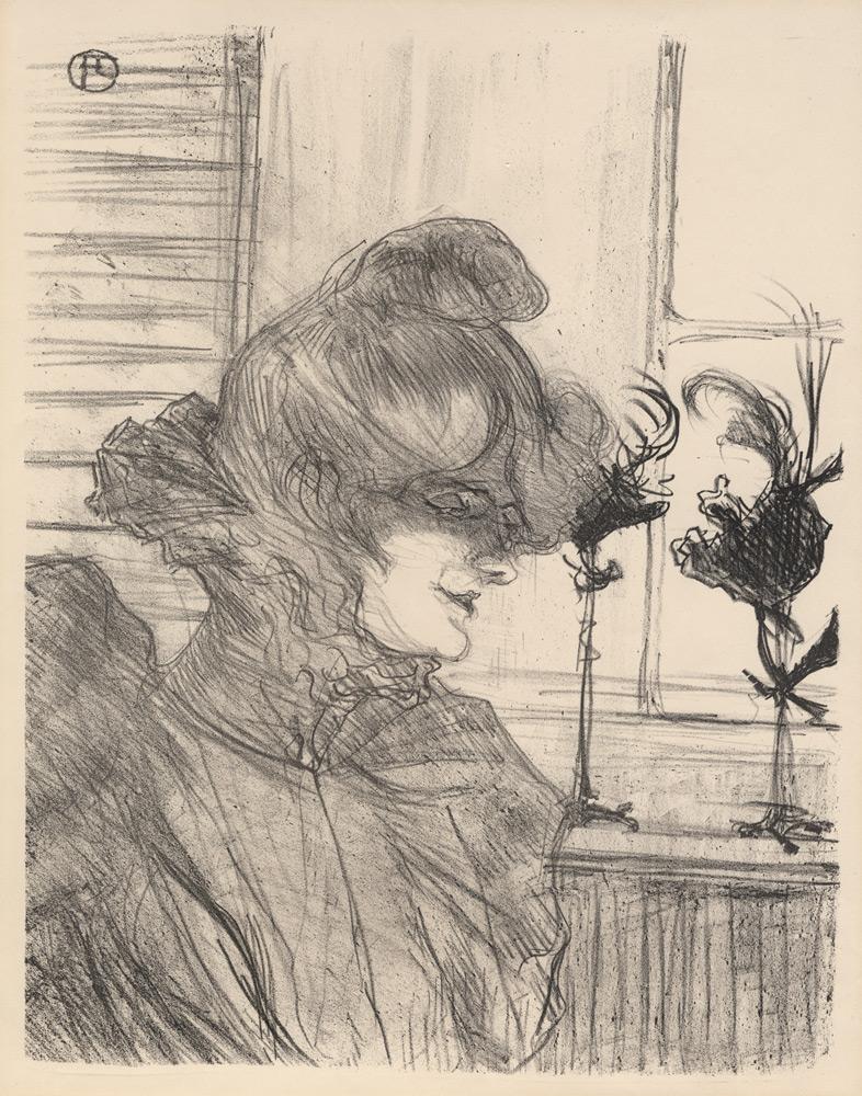 Le Margoin (mademoiselle Louise Blouet) by Henri de Toulouse-Lautrec
