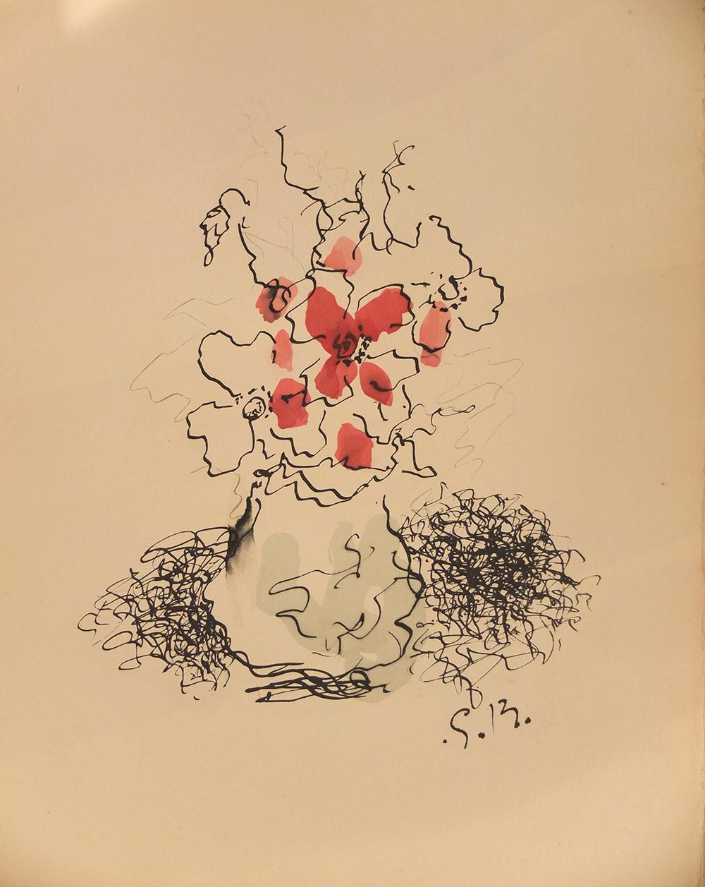 Le Bouquet – (le Vase) by Georges Braque