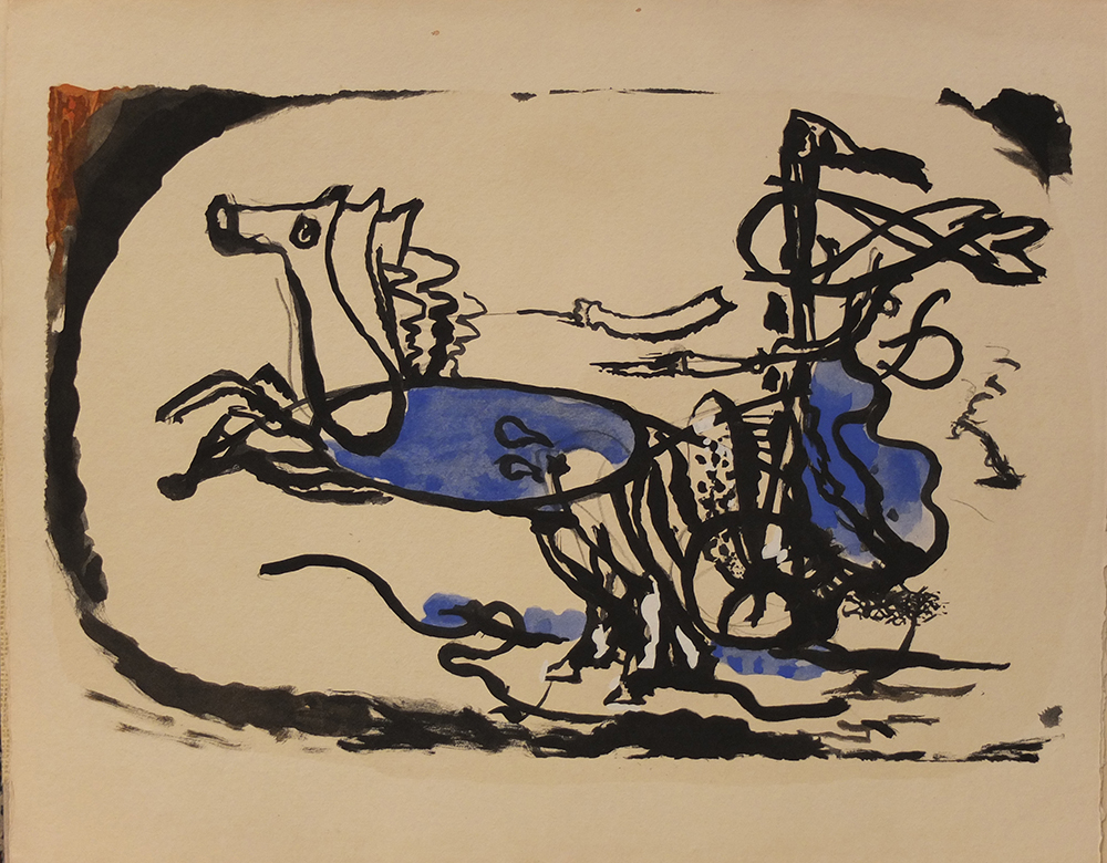 Le Char by Georges Braque
