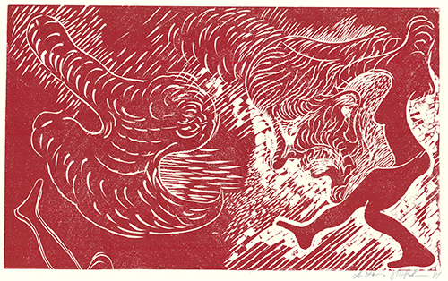 Surferin (rot) by Antonius Höckelmann