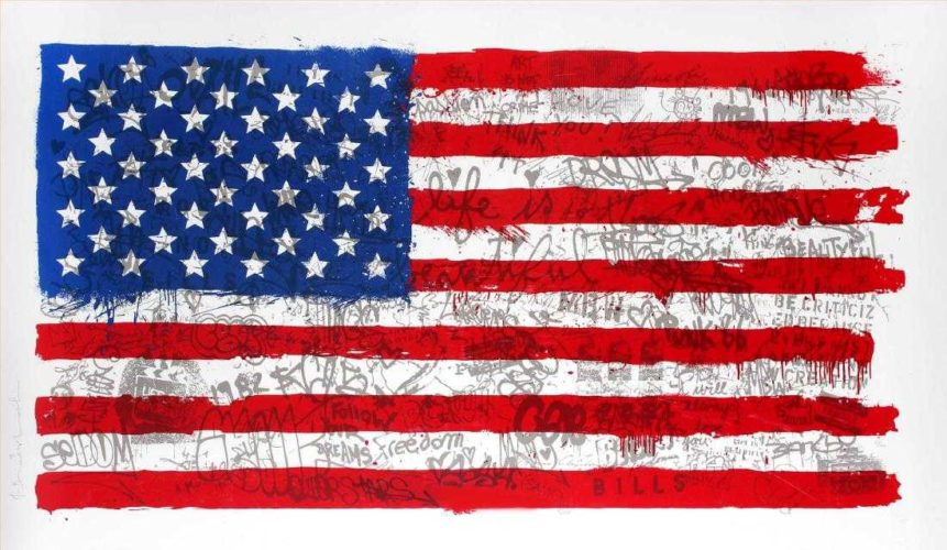 American Flag by Mr Brainwash