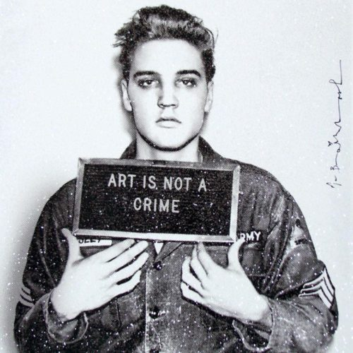 Happy Birthday Elvis! (diamond Dust) by Mr Brainwash