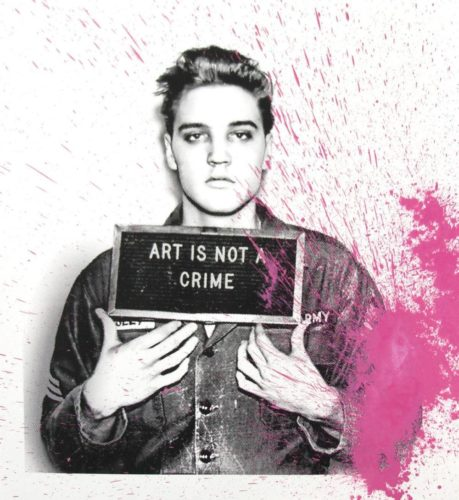 Happy Birthday Elvis! (pink) by Mr Brainwash