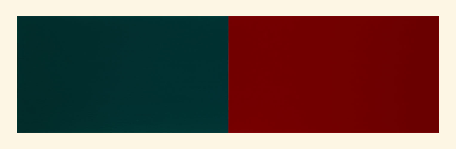 Rivers & Mountains/9, Blue Green/red Violet by Rupert Deese at