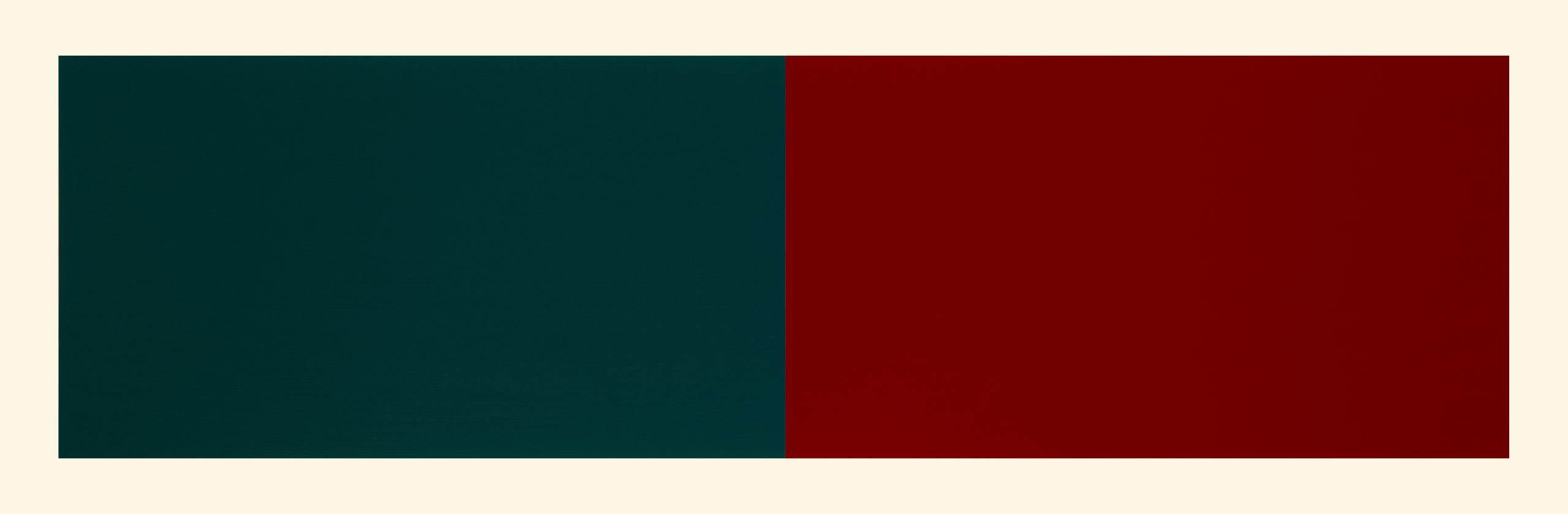 Rivers & Mountains/9, Blue Green/red Violet by Rupert Deese