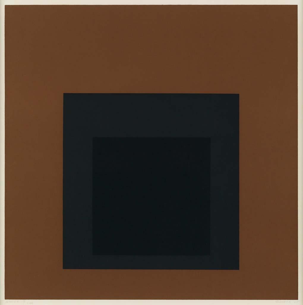 "Josef Albers  ""attic"" 1965 by Josef Albers"