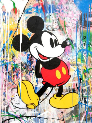 Mickey Green by Mr. Brainwash at Mr. Brainwash