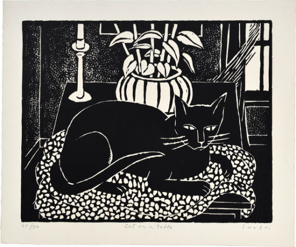 Cat On A Table by Kyohei Inukai at