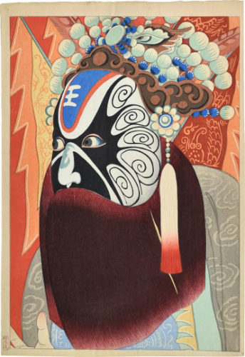 Actor In A Chinese Opera by Yamamura Koka, Toyonari