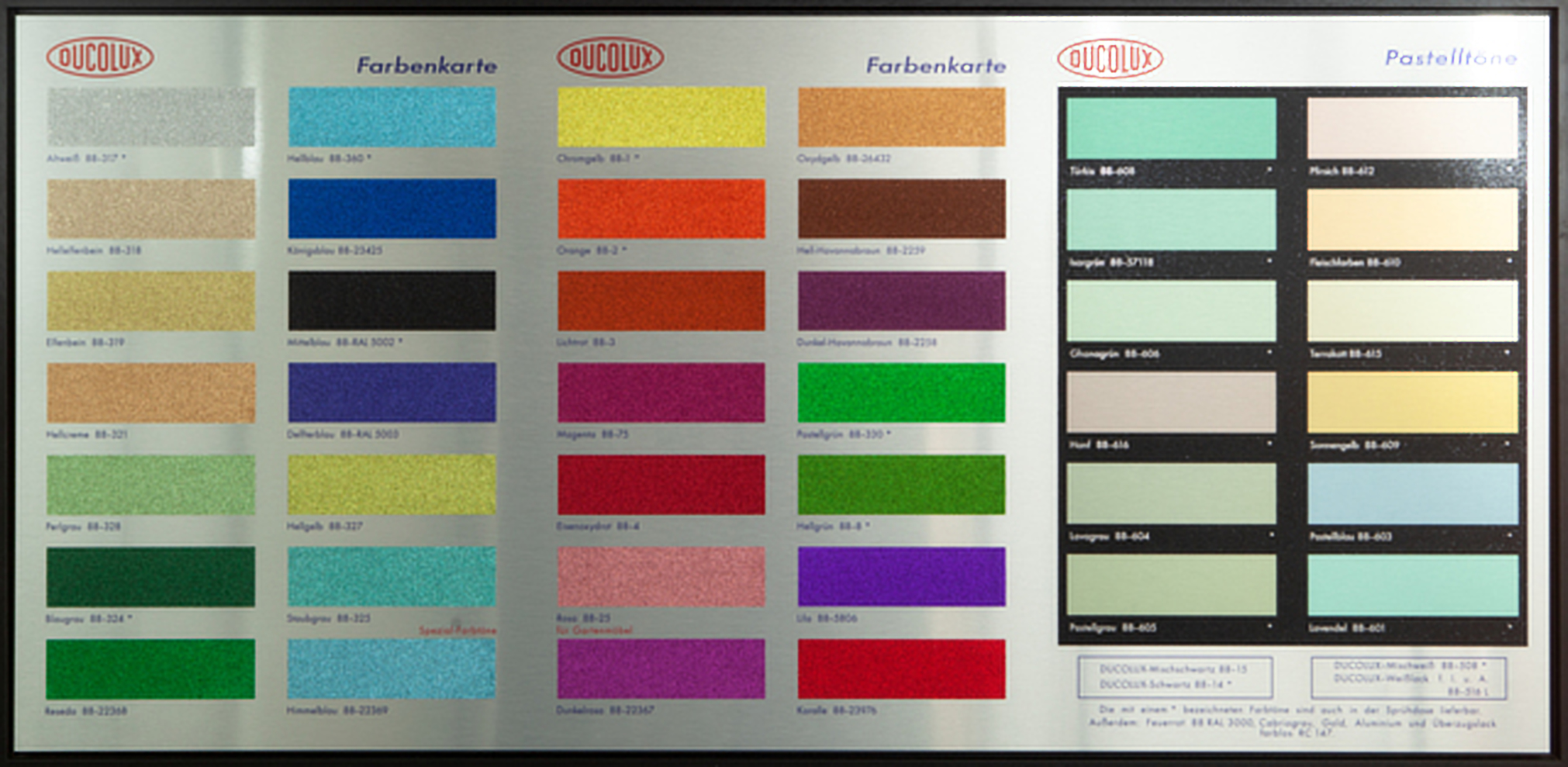 Colour Chart – Glitter by Damien Hirst