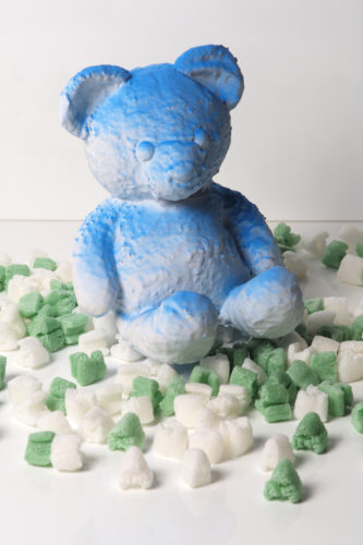 Cracked Bear (Blue) by Daniel Arsham