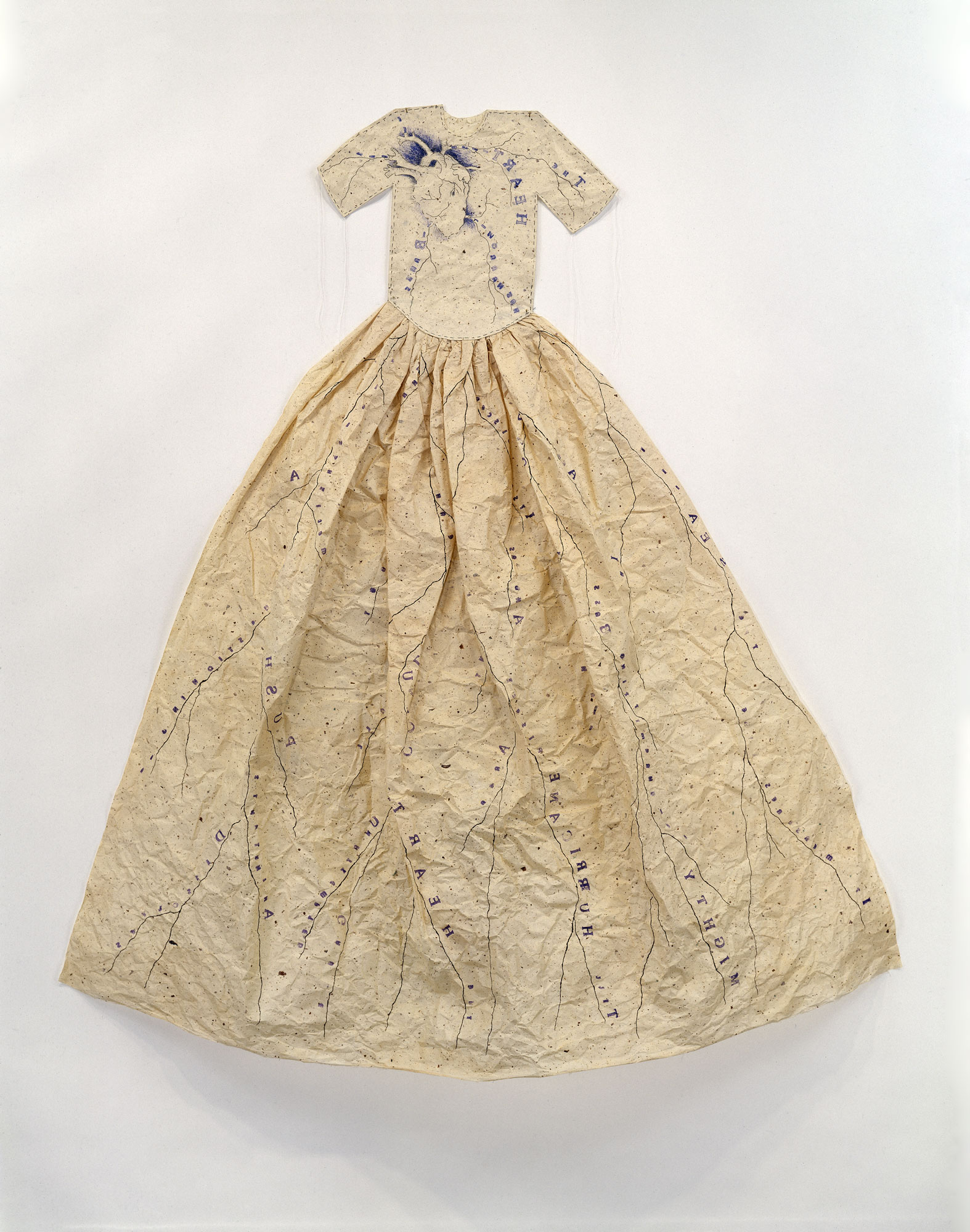 Poem Dress Of Circulation by Lesley Dill
