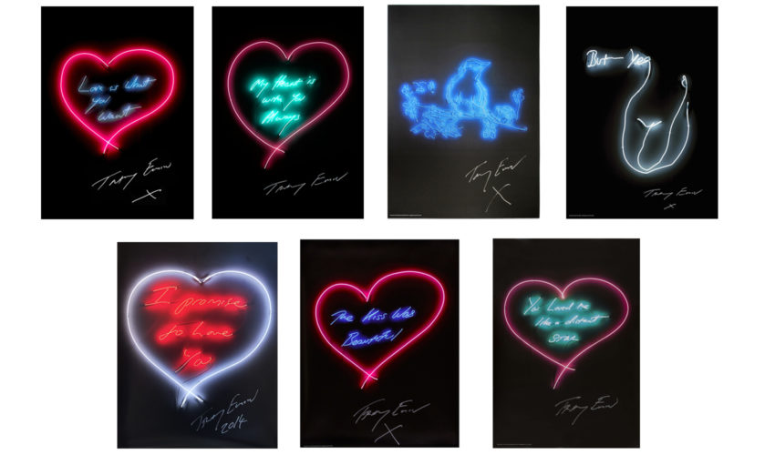 Set Of Neon Prints by Tracey Emin