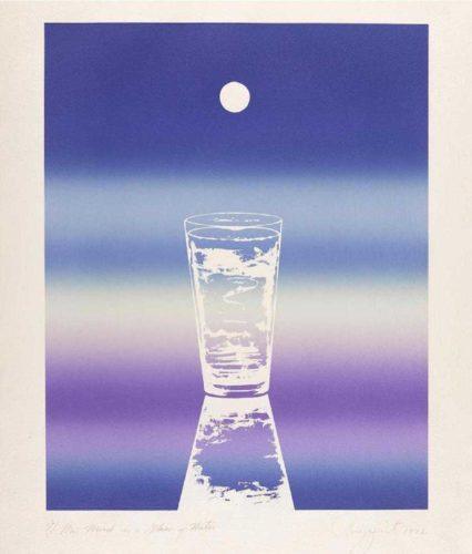 My Mind Is A Glass Of Water by James Rosenquist at James Rosenquist